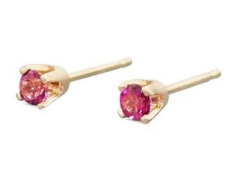 Gold Stud Earrings - Topaz Tiny Stud Earrings - Everyday Earrings - Wedding Earrings - Minimal Earrings - Delicate Earrings
