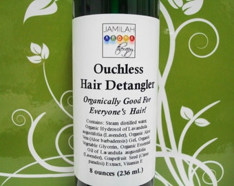 BEST SELLER - Ouchless Hair Detangler, Tearless Combing/Brushing, Natural Moisturizers & Fragrant Essential Oil, Moisturizing, 8oz./240 ml.