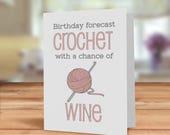 Crochet card, Birthday fo...