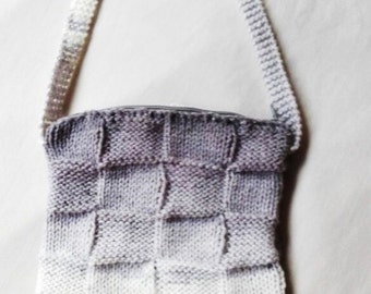 Knitting Pattern: Bag of squares