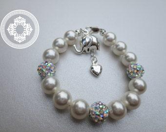 Girls bracelet, Disco Ball Bracelet, Baptism, flower girl, Weddings, flower girl accessories,  Flower girl gift ideas