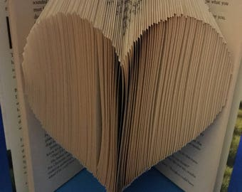 Folded book art, heart, book sculpture, unique gift, valentine, wedding gift, gift for her