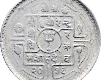 2036 (1979) 25 Paisa Nepal Birendra Bir Bikram Coin