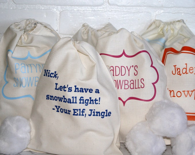 Personalized Indoor Snowball Fight Kit