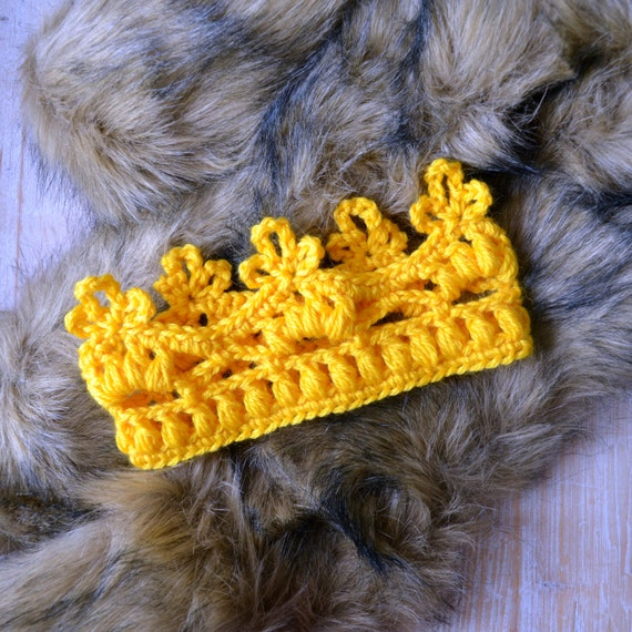 Crochet Baby crown pattern Mini crown Easy crochet tutorial Diadem ...