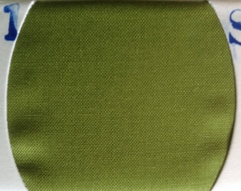 Plain cotton fabric, moss green no51