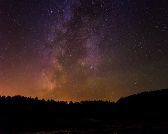 Milkyway Over a Lake Photo Print 8x10, 11x14, 16x20 or canvas