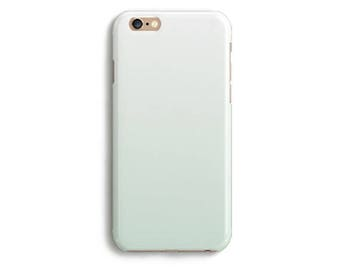 Mint Ombre Phone Case iPhone X 8 7 6s 6 Tough 6s Plus 5 5s SE Samsung Galaxy S6 S7 Edge Marine Cell Aqua Simple Modern Fashion Gradient