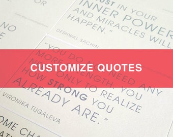 Customized Quotes
