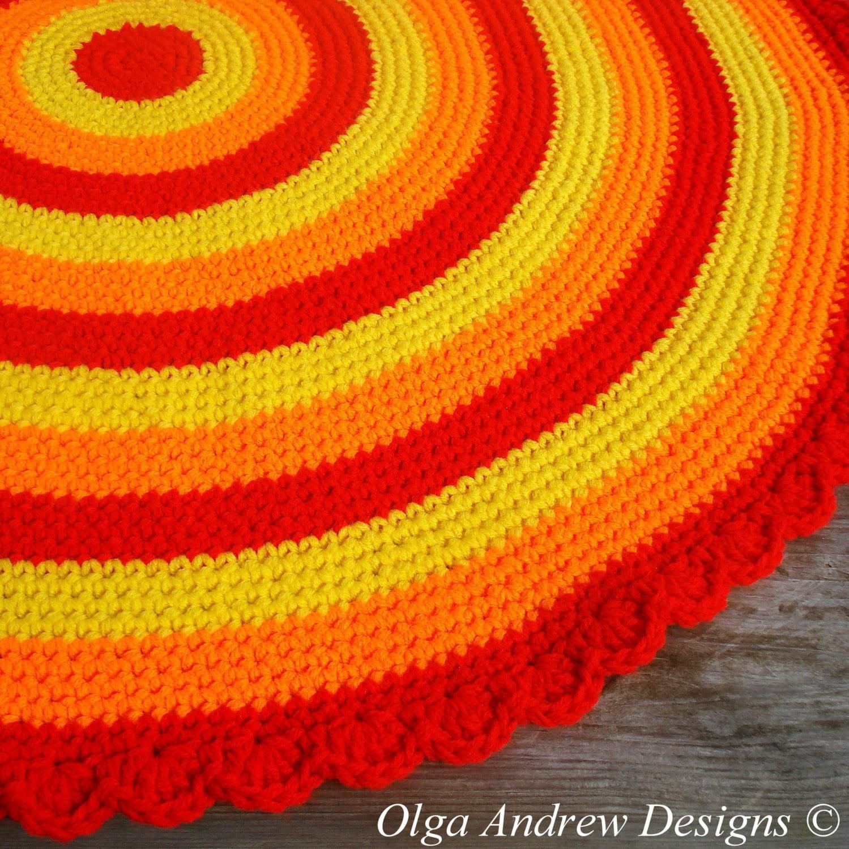Round rug crochet pattern crochet round rug pattern round rug ...
