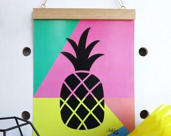 A4 Pineapple Art Print