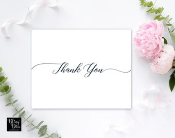 Two Become One Thank You Card Printable