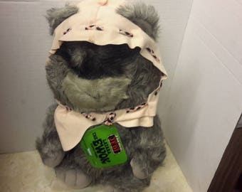 star wars ewok latara stuffed toy 1984 with tag made by kenner