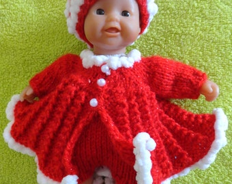 "Hand Knitted Dolls Clothes for 8""  OOAK  Doll (# 42)"