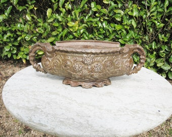 A Very Nice Vintage French Cast iron Planter / Jardiniere