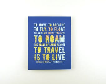 Travel Gifts for Men, Travel Gallery Art, Unique Map Art Gift for Travel Lover, Wanderlust Decor, Travel is to Live