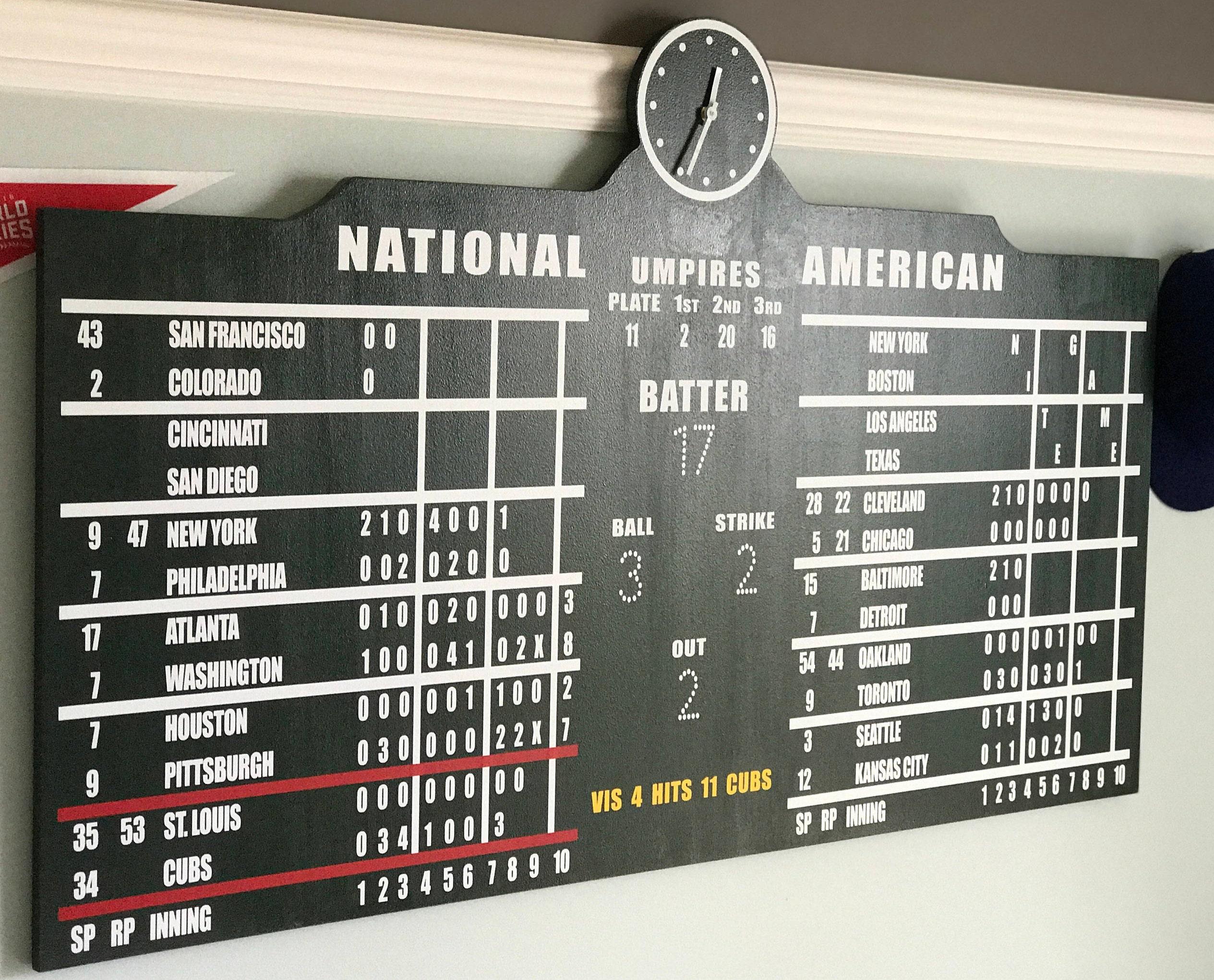 Wrigley Field Chicago Cubs Scoreboard Large 49 X