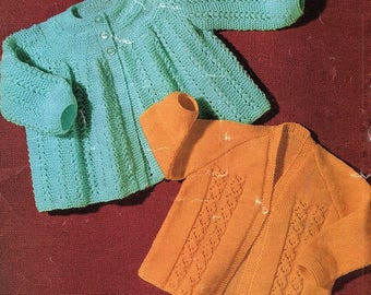 Baby Matinee Coats, KnittingPattern. PDF Instant Download.