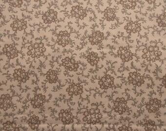 Tan Vintage Style Fabric - Savannah by Fons & Porter  Benartex 484 - 100% Cotton - 1 yard only