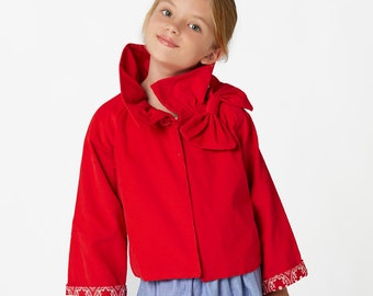 Jacket Patterns, Coat Patterns, Girls Jacket Pattern, Jacket Sewing Patterns, Childrens Sewing Pattern, PDF Pattern, RUFFLE JACKET
