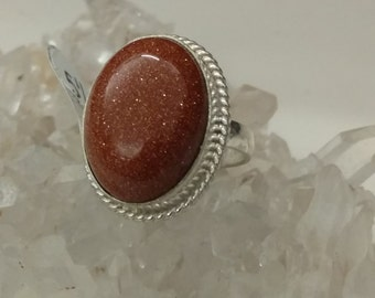 Goldstone Ring Size 5.5