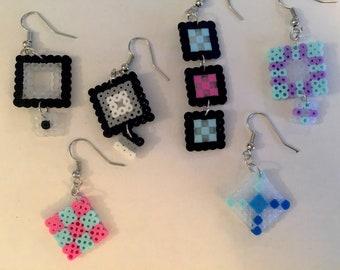 Geometric Pixel Earrings
