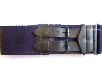 Royal Navy Stable Belt - Uniform Belt - Navy Blue - British Army Military - Size Large - E307