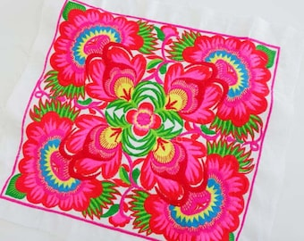 Machine Embroidered Fabric Tribal DIY Textile Crafts