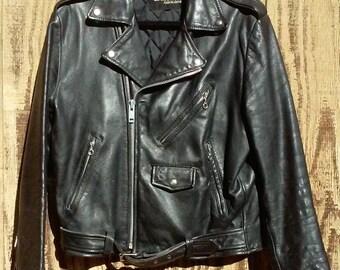 Men's Moto Leather Bomber