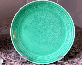 Vintage Green Fiestaware Plate Fiesta Ware Homer Laughlin Farmhouse Boho Primitive
