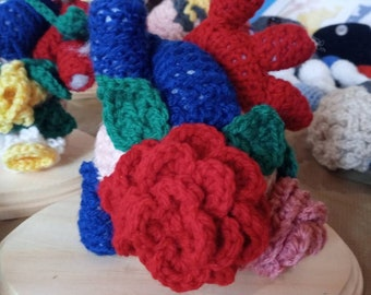 Crocheted Anatomical Heart (Spring Edition)