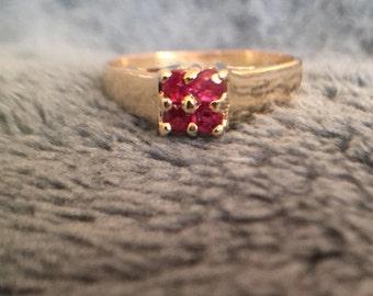 Ruby ring in 10k gold.