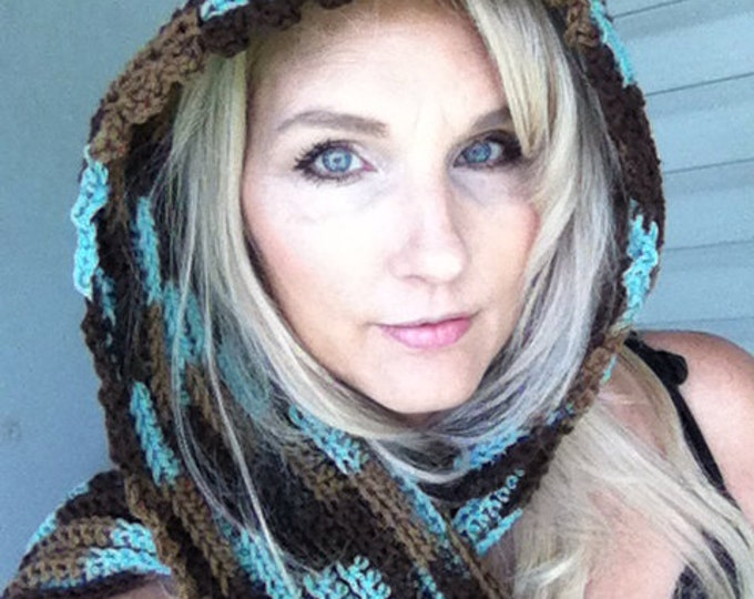 Hooded Scarf-Crocheted Scarves-Women Accessories-Christmas Gift-Accessories-Head Wrap-Hoodie