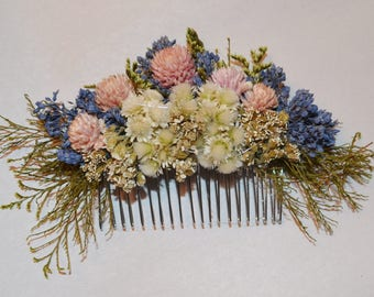 Wedding Hair Comb, Lavender hair comb, Wedding Hair Comb, Hair Comb. Dried Flower Hair Comb - Can Be Custom Made to Order