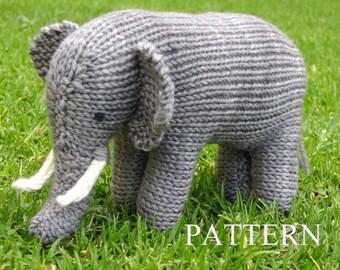 Elephant Knitting Pattern, PDF, Instant Digital Download