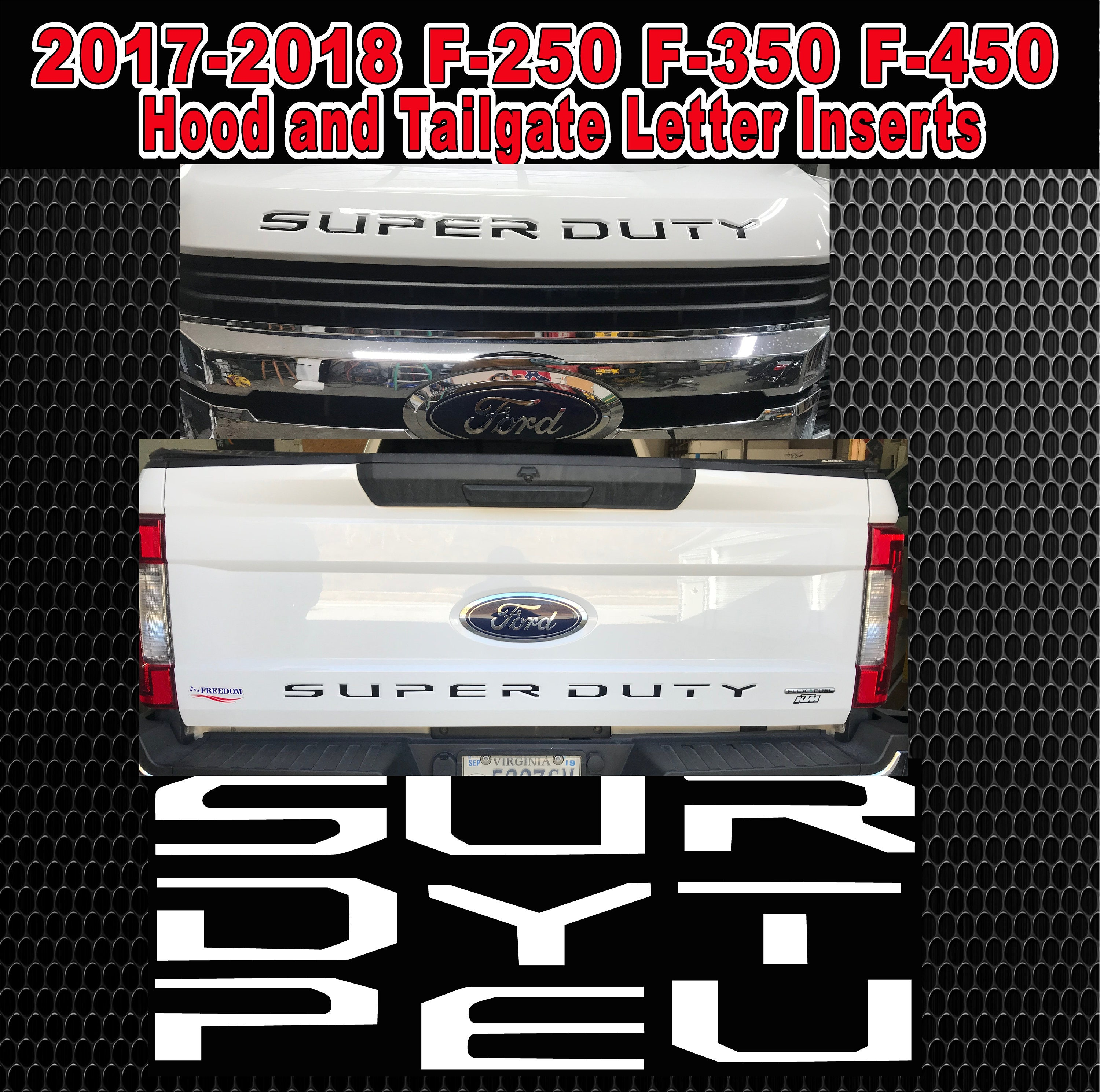 Will fit ford super duty 2017 2018 hood and tailgate letter zoom arubaitofo Gallery