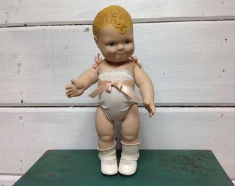 Vintage Daisy Doll Strawberry Blonde Hair Blue Eyes