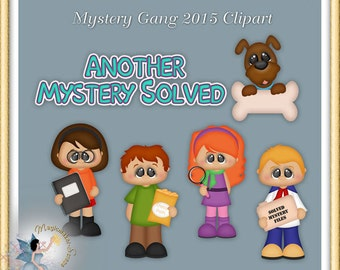 Detective Clipart, Mystery Gang