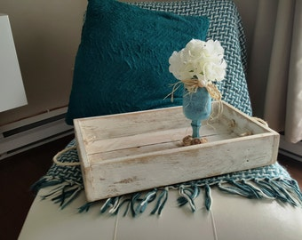 Relaxing Anick Rustic tray, serving - with recycled pallet wood