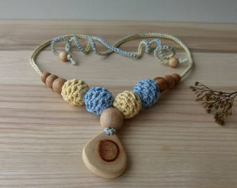 100% Organic Cotton Nursing Necklace /  Teething Necklace for mom to wear - Choose Color - Mama Breastfeeding Necklace