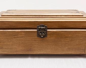 Jewelry Box, Handmade Wooden Box, Keepsake Box.