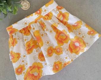 Size 4 - Retro Vintage Flat Front Skirt