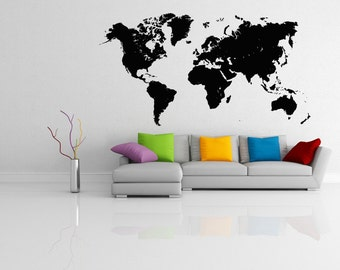 World map wall mural etsy gumiabroncs Choice Image