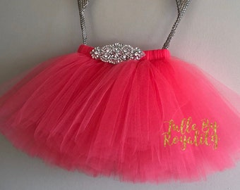 Diamonds and Pearl Flower Girl Tutu- Knee Length (Choose Your Color)