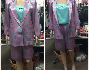 3pce Pink/Blue Suit!