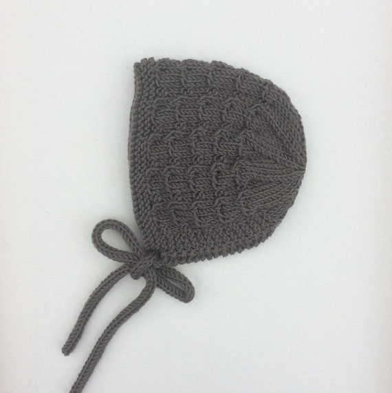 Merino Wool Wavy Bonnet - Earth - Made to Order