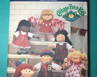 Vintage Butterick Pattern 6436 - Cabbage Patch Kids Doll Clothes