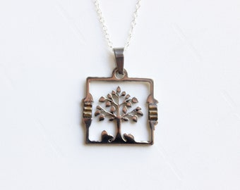 Tree of Life Necklace / Sterling Silver Tree of Life Pendant / Original Tree of Life Jewelry / Family Tree Necklace / Unique on Etsy