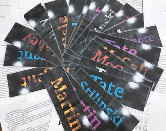 Teen Wolf Bookmarks, Night Series, Part 1
