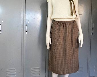 SALE33 brown wool skirt